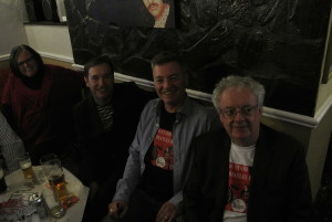 Alex and Terry with Tony O'Keeffe of Cavern residents the Shakers.