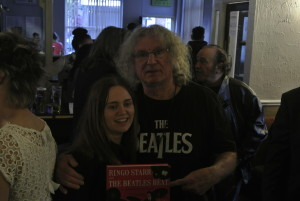 Don Powell with a proud new owner of Ringo Starr And The Beatles Beat.